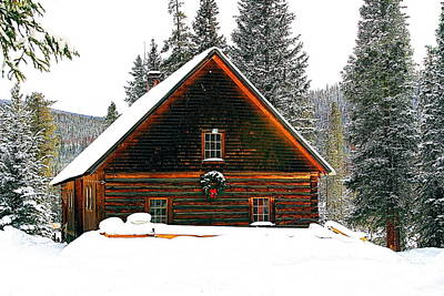 Christmas In The Rockies Art Print by Steven Reed