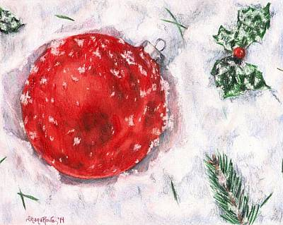 Drawing - Christmas In The Snow by Shana Rowe Jackson