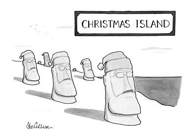 The Main Drawing - Christmas Island by Leo Cullum
