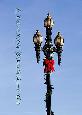 Photograph - Christmas Lamp Post Grn 2013 by Deb Buchanan