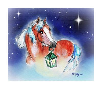 Wall Art - Drawing - Christmas Lantern by Tarja Stegars