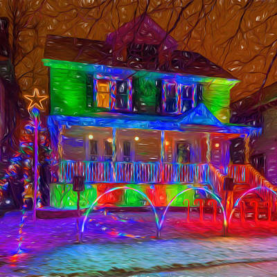 Photograph - Christmas Lights - Sqaure by Chris Bordeleau