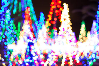 Photograph - Christmas Lights Abstract by Richard Goldman