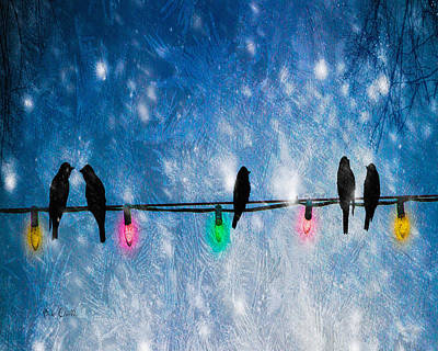 Winter Night Photograph - Christmas Lights by Bob Orsillo