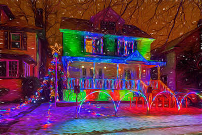 Photograph - Christmas Lights by Chris Bordeleau