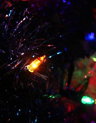 Photograph - Christmas Lights by Davandra Cribbie