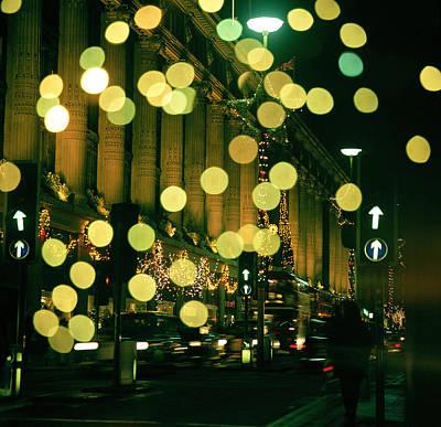 Christmas Lights In Oxford Streeet Art Print