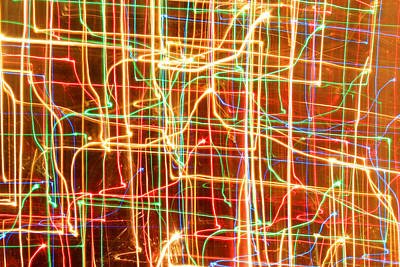 Abstract Painting - Christmas Lights Patterns by Julia Fine Art And Photography
