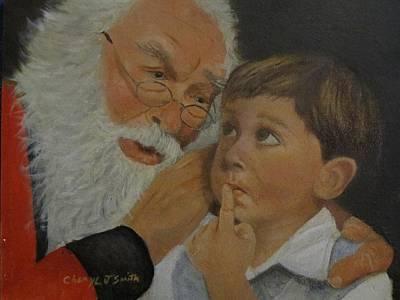 Santa Claus Painting - Christmas List by Cheryl J Smith