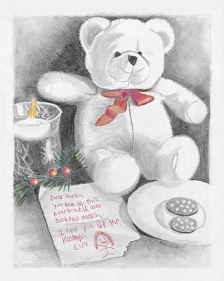 Mixed Media - Christmas List by Susan Schmitz