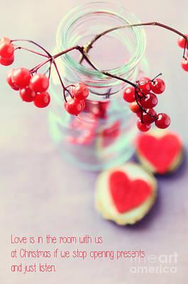 Christmas Love Print by Sabine Jacobs