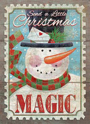 Christmas Magic Art Print by P.s. Art Studios