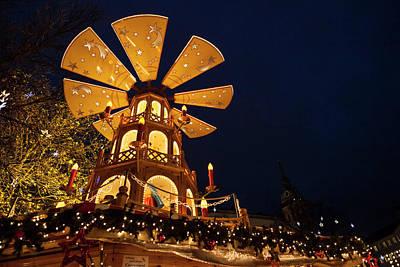 Photograph - Christmas Market Or Rindermarkt Near by Danita Delimont