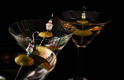 Martini Royalty-Free and Rights-Managed Images - Christmas Martini Parade by Ron White