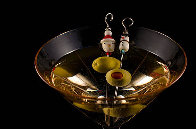 Martini Royalty-Free and Rights-Managed Images - Christmas Martini by Ron White