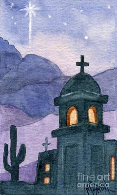 Painting - Christmas Mission Chapel by Marilyn Smith