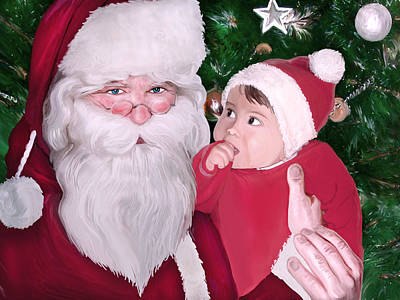 Christmas Digital Art - Christmas Moments With Santa Claus by Gina Dsgn