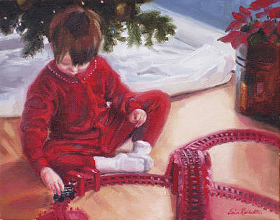 Painting - Christmas Morning by Erin Rickelton