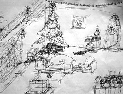 Matthew Joseph Williams Drawing - Christmas Morning by Artists With Autism Inc