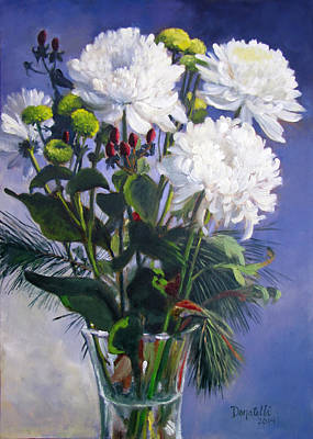 Painting - Christmas Mums 2 by Kathryn Donatelli
