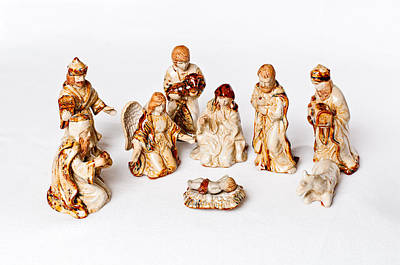 Photograph - Christmas Nativity by Andy Crawford