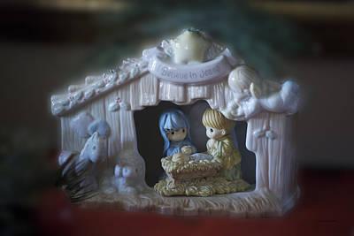 Christmas Nativity Scene Print by Thomas Woolworth