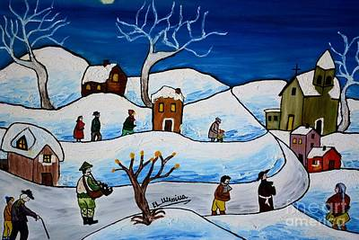 Painting - Christmas Night by Loredana Messina