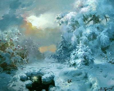 Christmas Night Fairy Tale Art Print