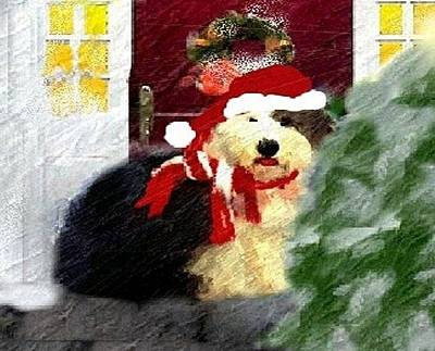 Mixed Media - Christmas Oliver by Cathy Howard