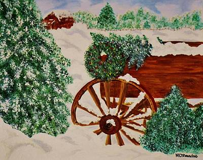 Art Print featuring the painting Christmas On The Farm by Celeste Manning
