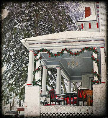 Photograph - Christmas On The Veranda  by Chris Berry