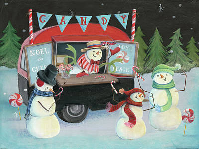 Food Truck Painting - Christmas On Wheels I by Mary Urban