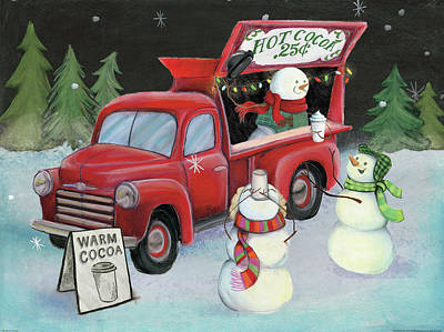 Food Truck Painting - Christmas On Wheels Iv by Mary Urban