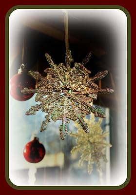 Digital Art - Christmas Ornament Snowflake by Holley Jacobs