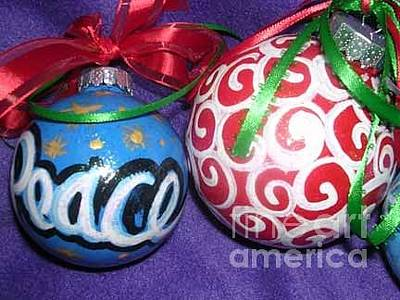 Painting - Christmas Ornaments 1 by Genevieve Esson