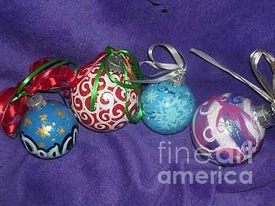 Painting - Christmas Ornaments 3 by Genevieve Esson