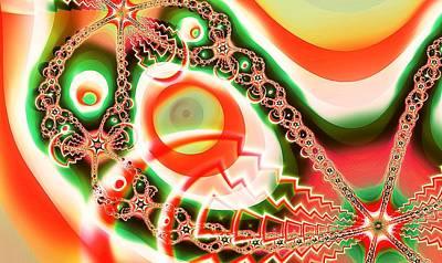 Digital Art - Christmas Ornaments by Anastasiya Malakhova