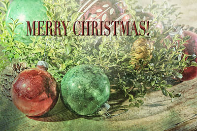 Photograph - Christmas Ornaments Greeting Card by Marianne Campolongo