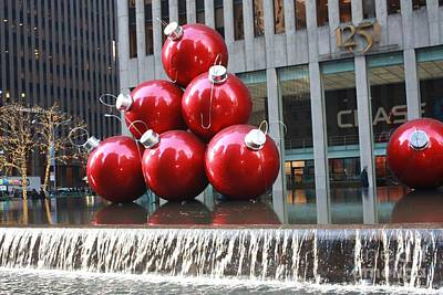 Photograph - Christmas Ornaments In Nyc by John Telfer