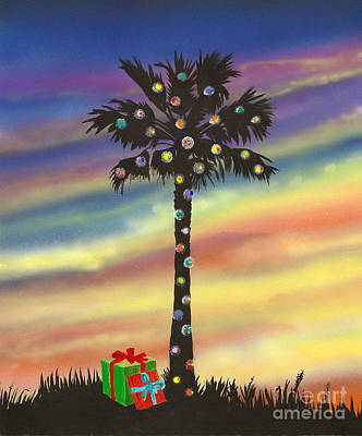 San Clemente Christmas Art Print