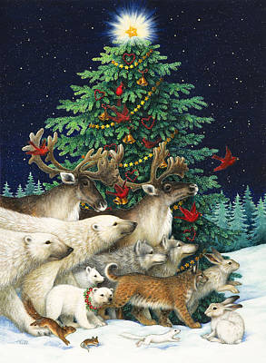 Tree Painting - Christmas Parade by Lynn Bywaters