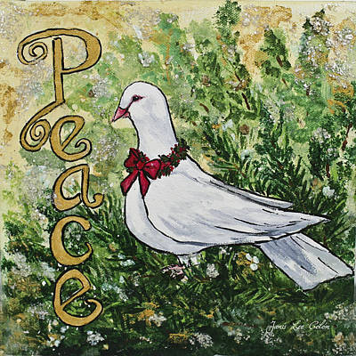 Christmas Peace Dove Art Print