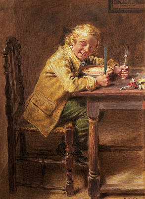 Pie Painting - Christmas Pie by William Henry Hunt