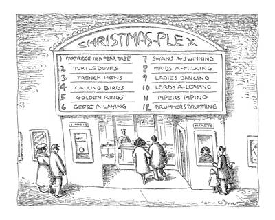 Playing Drawing - Christmas-plex by John O'Brien