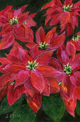 Painting - Christmas Poinsettia  by Jamie Frier