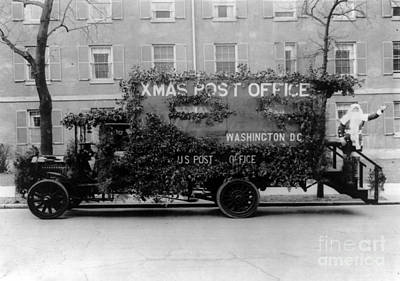 Photograph - Christmas Post Office Truck 1922 by LOC Science Source