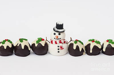 Photograph - Christmas Pudding Chocolates And Snowman by Tim Gainey