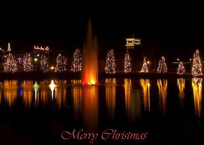 Featured Images Digital Art - Christmas Reflection - Christmas Card by Chris Flees