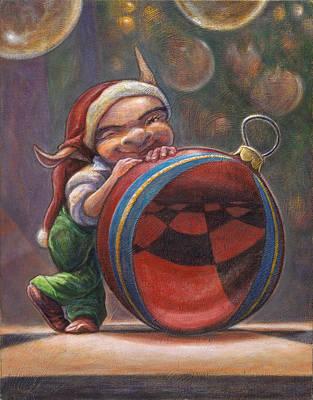 Christmas Reflections Art Print by Leonard Filgate