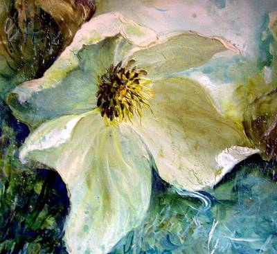 Painting - Christmas Rose by Christa Friedl